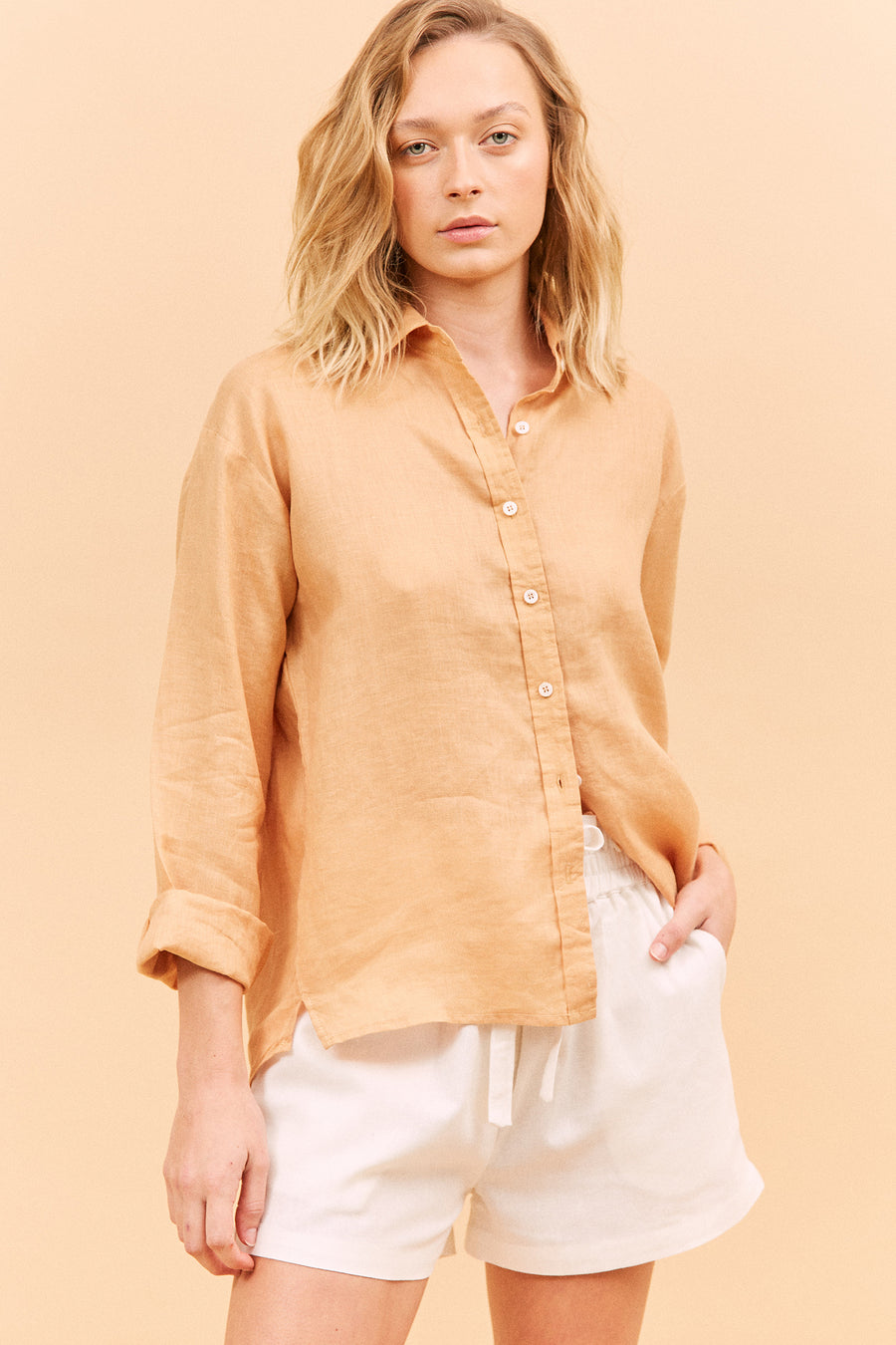 MALLOW SHIRT - PEACH