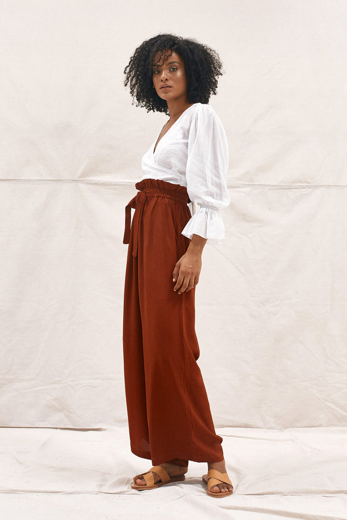 DAHLIA PANTS - RED CLAY