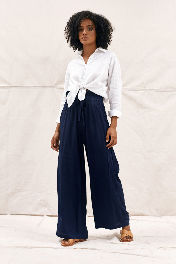 DAHLIA PANTS - NAVAL BLUE