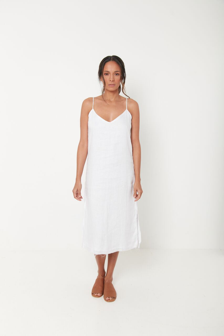 PIA MIDI SLIP DRESS