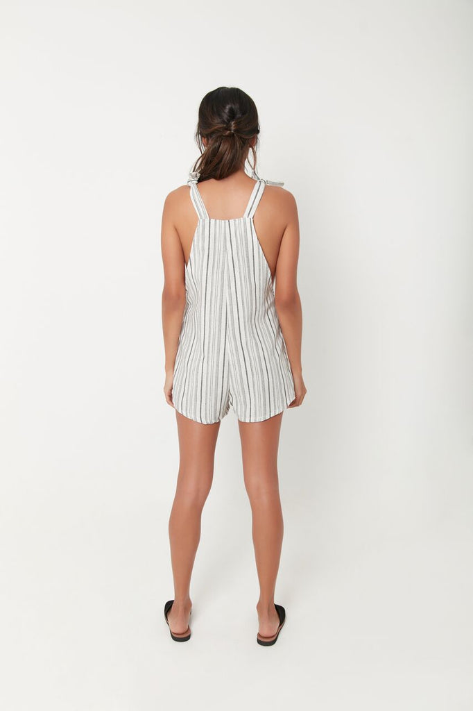 EASY RIDER SHORT OVERALL - BLACK STRIPE