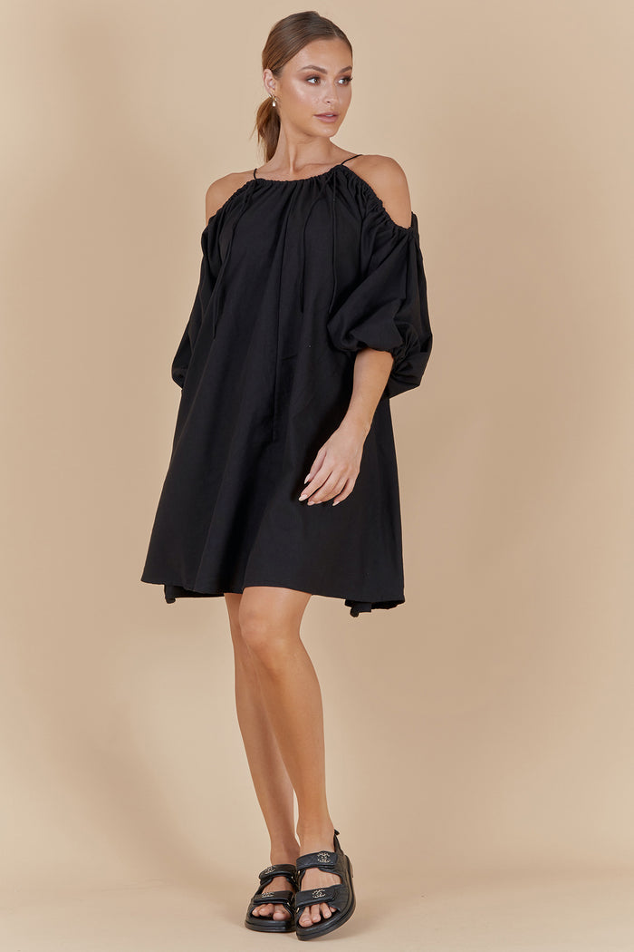 CONCEPT SHORT DRESS - BLACK
