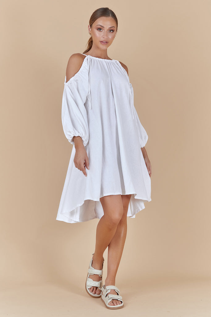 CONCEPT SHORT DRESS - WHITE