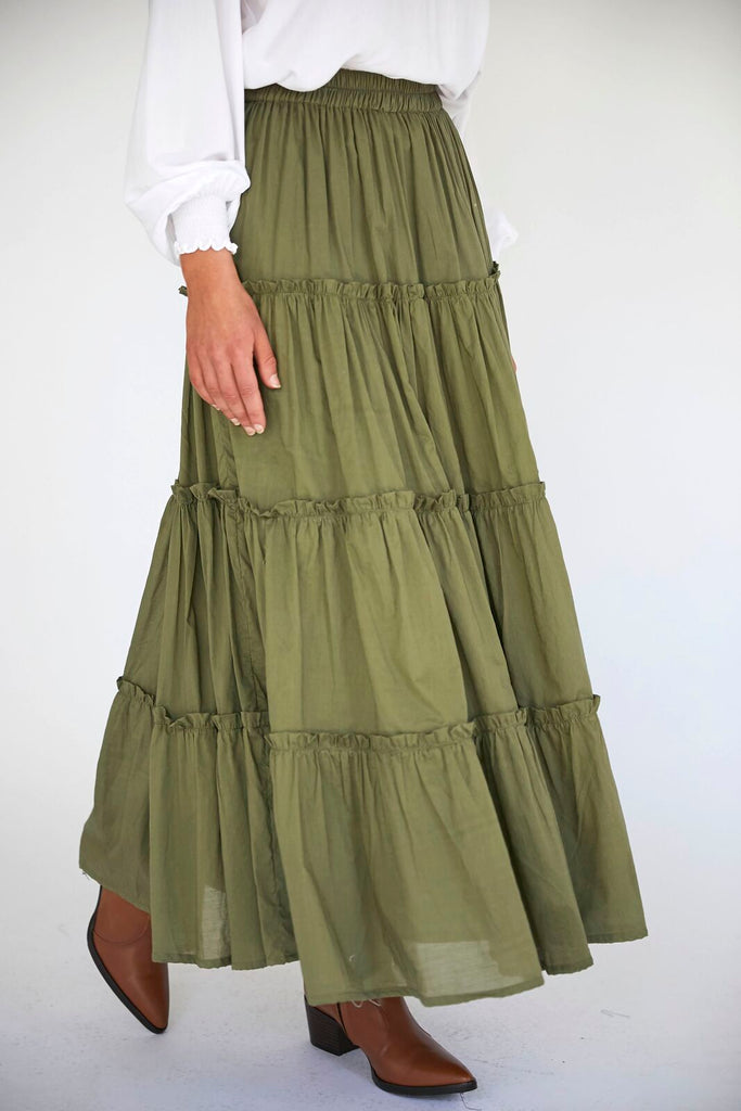 MELROSE SKIRT - CYPRESS