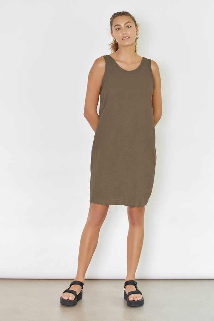 DRIFTER DRESS - DARK ALMOND