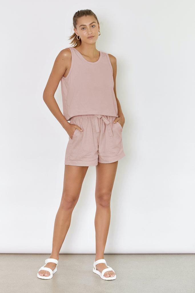DRIFTER TANK - BLUSH (ORGANIC COTTON)