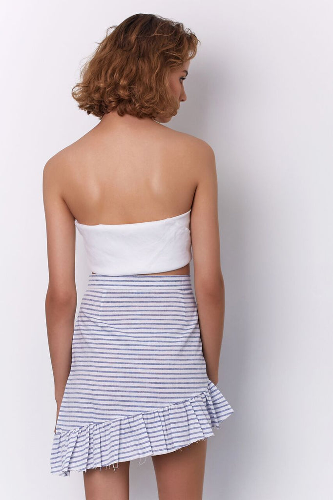 BROOKE MINI SKIRT - BLUE STRIPE