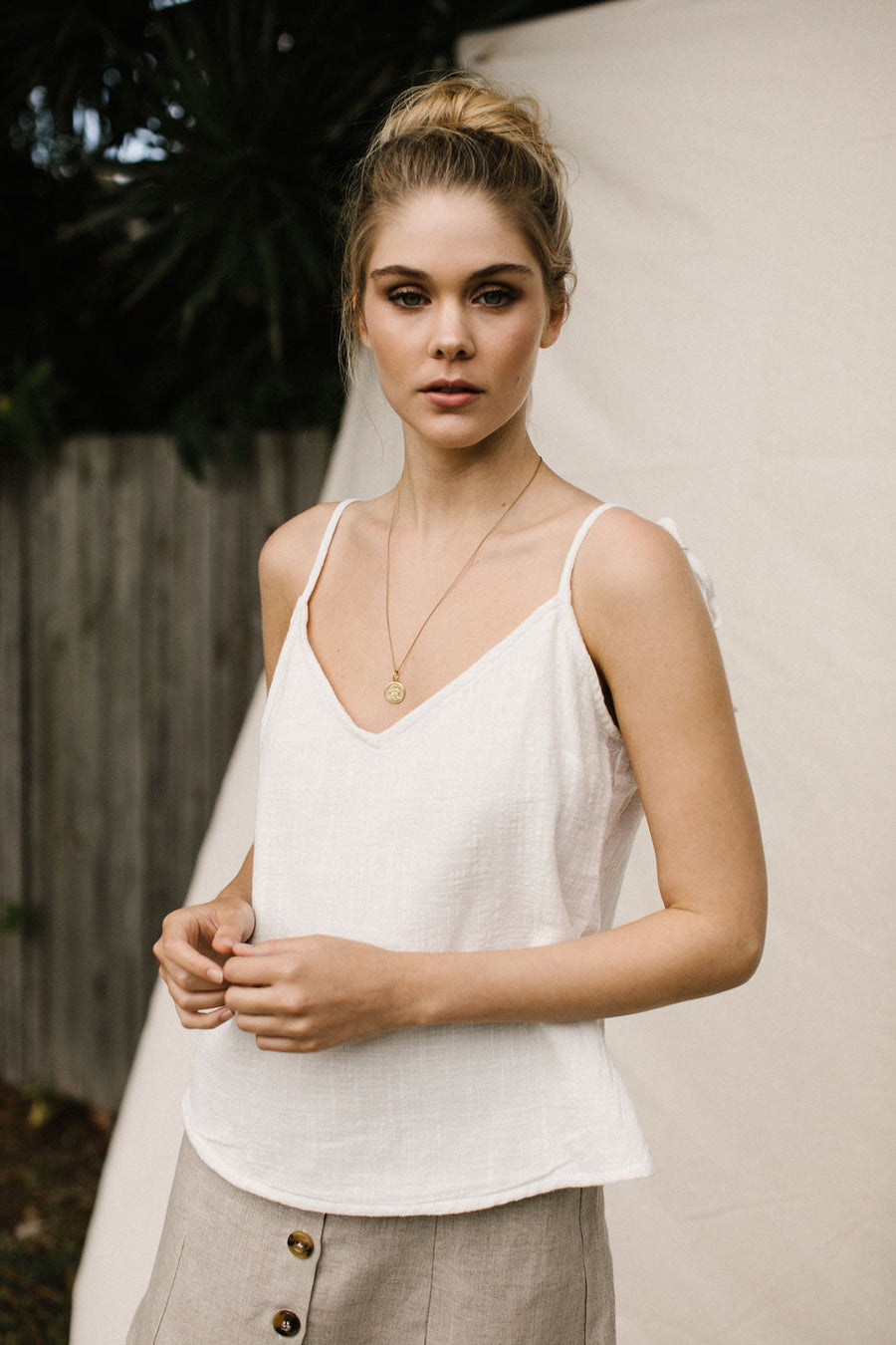 ARDEN TOP - IVORY