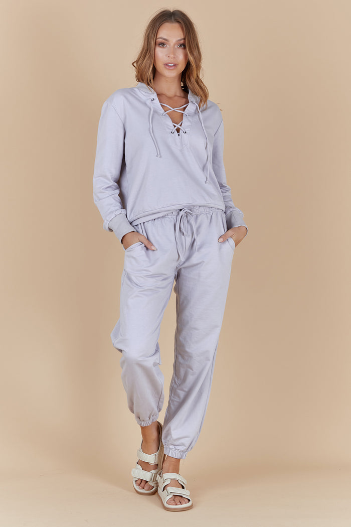 TATE LOUNGE PANTS- BLUE PEARL