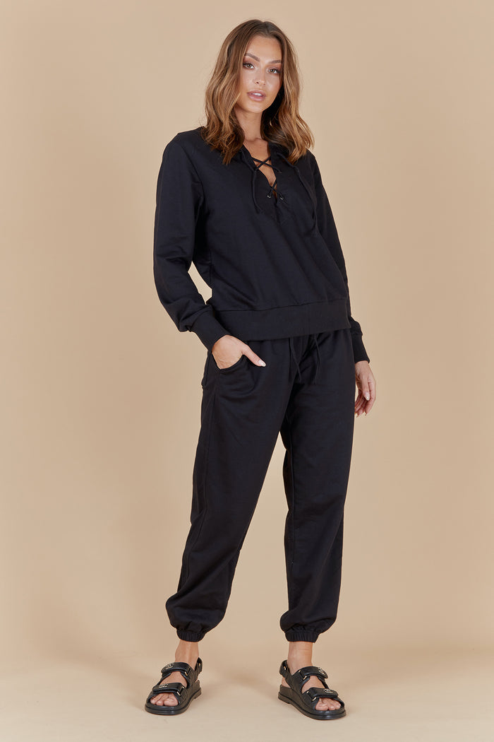 TATE LOUNGE PANTS - BLACK