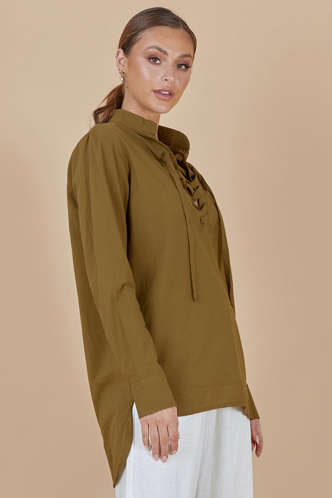 ZEPHYR SHIRT - OLIVE GREEN