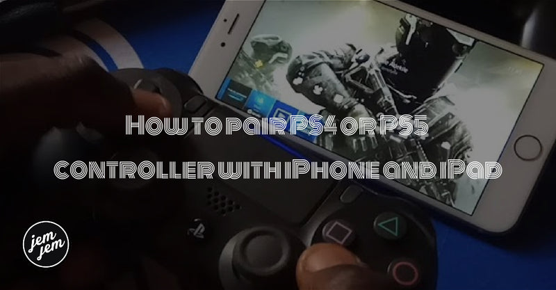 How to pair PS4 or PS5 controller with iPhone and iPad on the jemjem