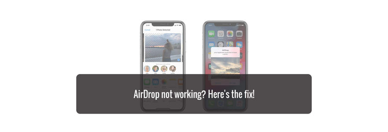 AirDrop not working? Here's the fix!