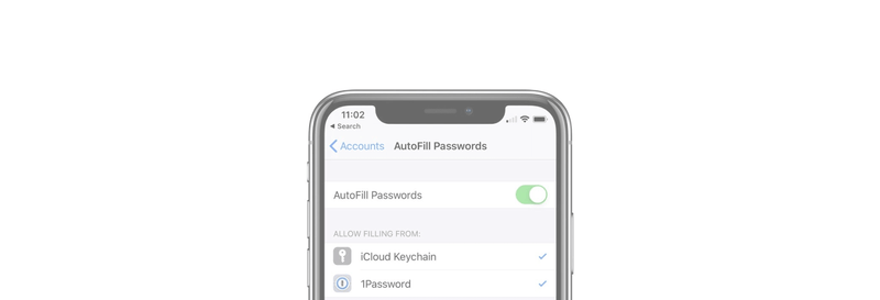 How to set 1Password as you default AutoFill provider in iOS 12