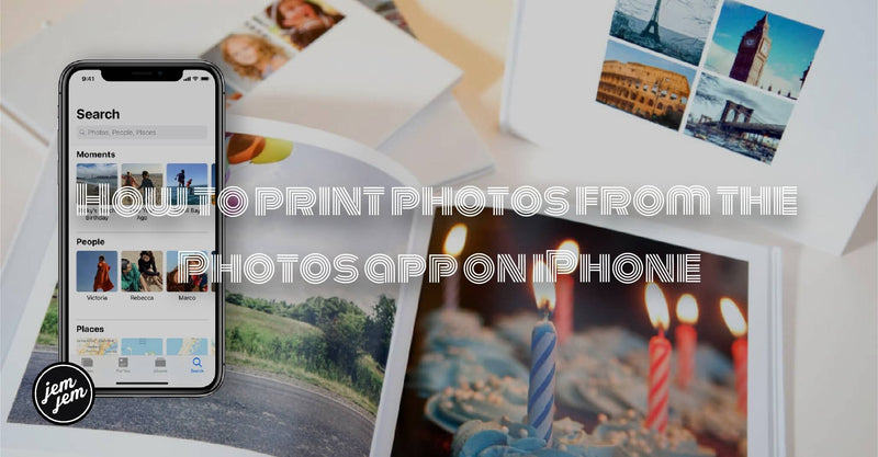 How to print photos from the Photos app on iPhone