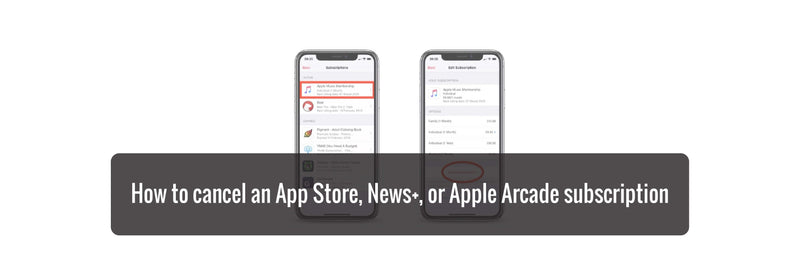 How to cancel an App Store, News+,  or Apple Arcade subscription