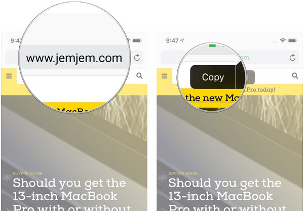 How to quickly copy URLs and search in Safari for iPhone and