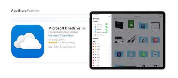 How to download files directly to OneDrive on iPad and