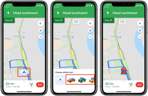 Google Maps: how to swap out driving navigation arrow for ... on google map marseille, land navigation, google places, openstreetmap navigation, google navigation app, phone navigation, google search navigation, google india map, google map manitoba canada, google map of alberta, google map texas a&m, google map pin, google search mapquest, here navigation, google now traffic, google earth, gps navigation, google satellite map, google quick search box, google map example,