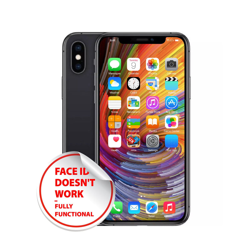 "Apple iPhone XS 64GB/256GB/512GB unlocked - Fully Functional ""NO FACE ID"" (Acceptable condition)"