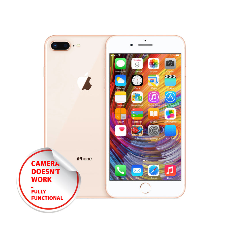 Apple iPhone 8 Plus 64GB / 128 GB / 256 GB (Fully Function except defective camera) phones