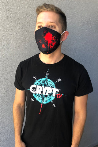 Crypt TV Blood Splatter Face Mask