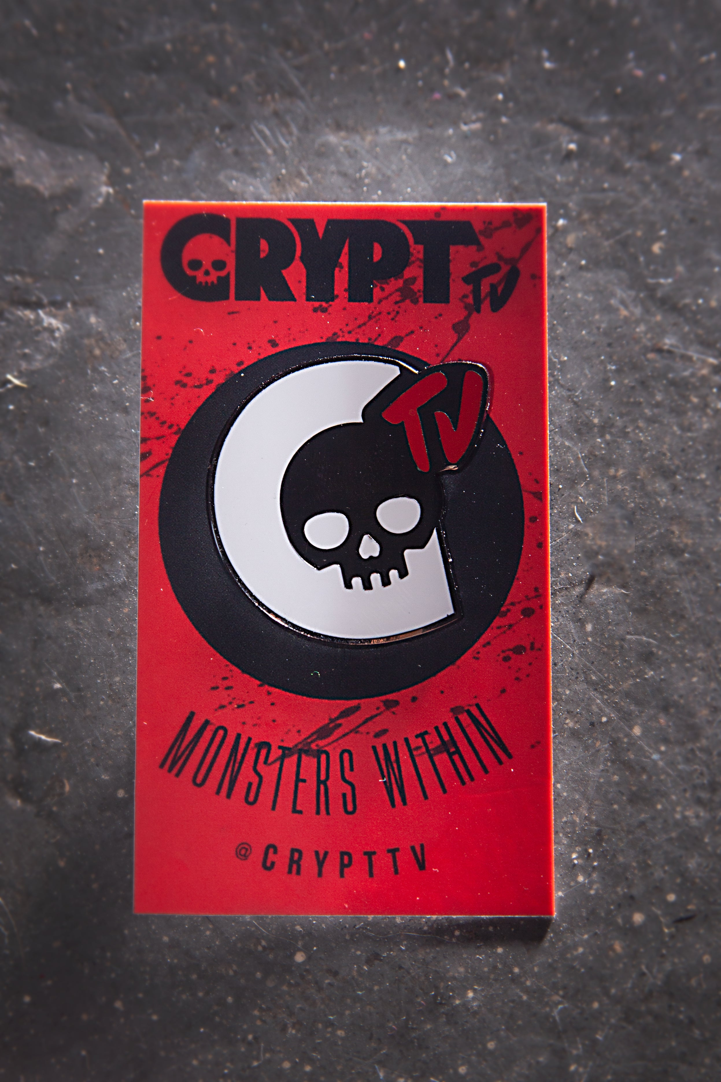 Crypt TV Logo Pin