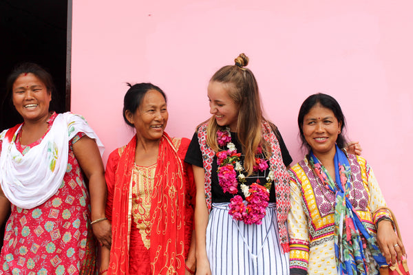 Lucy in Nepal with Women's Action Group