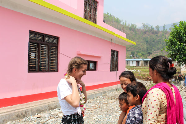 Ruby in Nepal with Women's Action Group