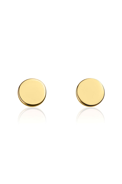 Disc Gold St Silver Stud Earring