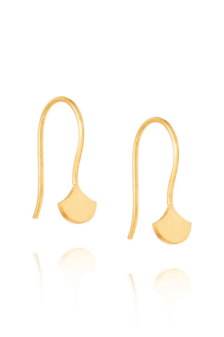 Droplet 14k Gold Plate Hook Earrings