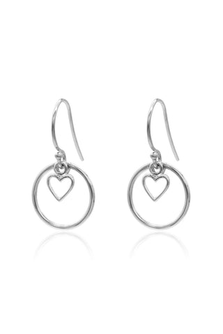 Heart Halo SS Earrings
