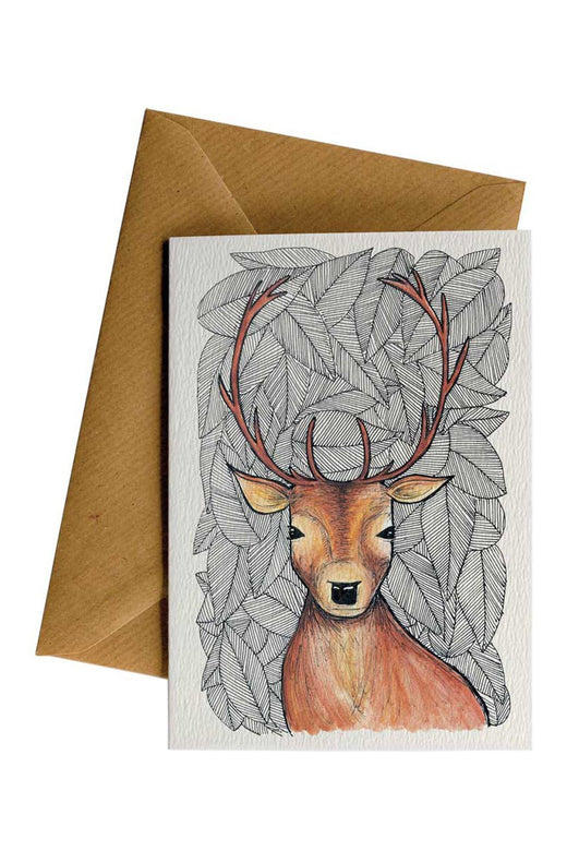 Pattern Deer Card