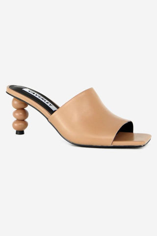 Bonita Ball Heel Tan Mule