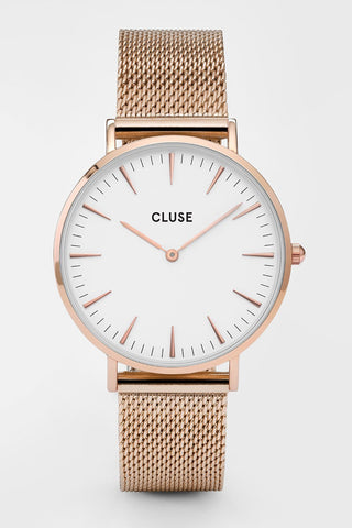 LaBoheme Mesh Rose Gold Watch
