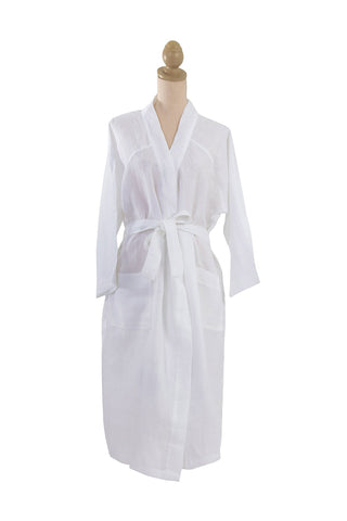 Linen White Bathrobe
