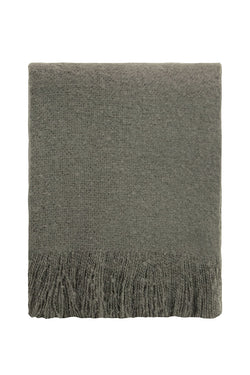 Cosy Charcoal Tassel Throw
