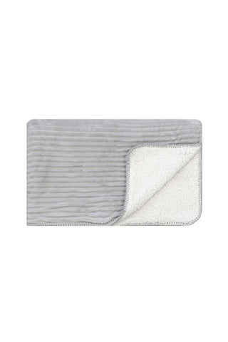 Cord Sherpa Stitch Glacier Grey Throw 130x170