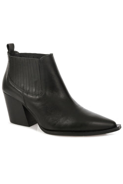 Chelsea Black Leather Boot