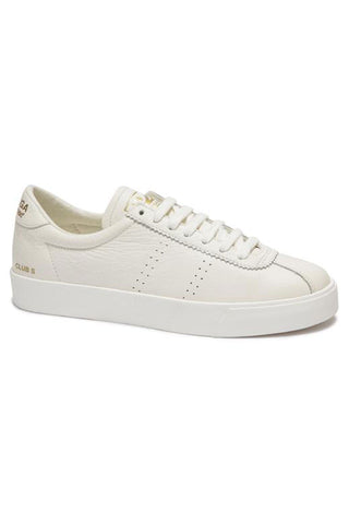 2843 Clubs Tumbled White Cloud Leather Sneaker
