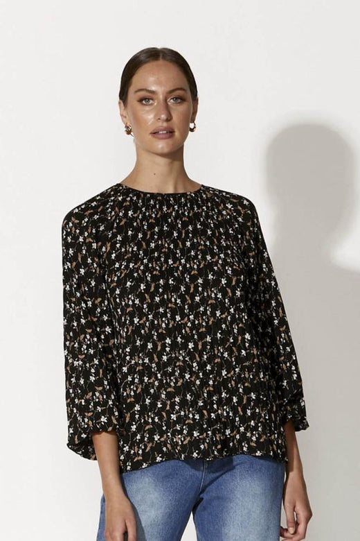 Close Encounter Midnight Floral Top
