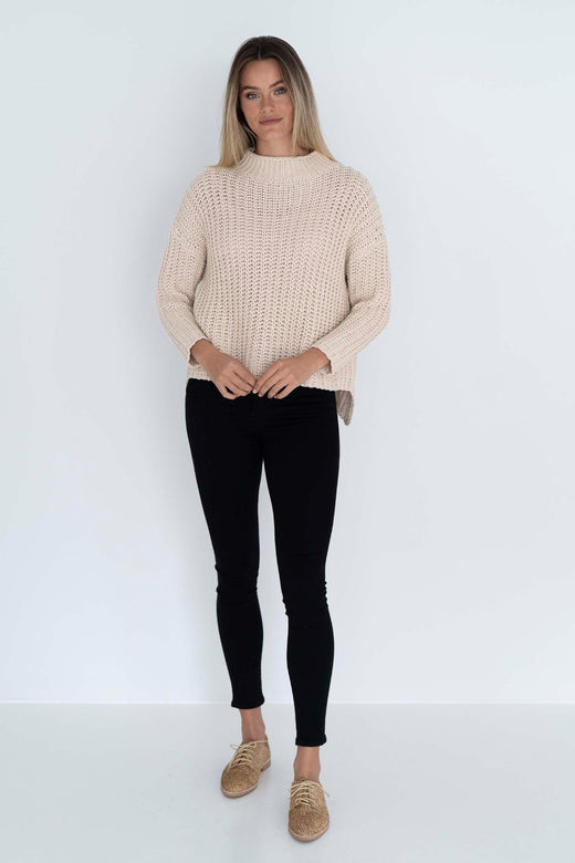 Coco Natural Cable Knit Jumper