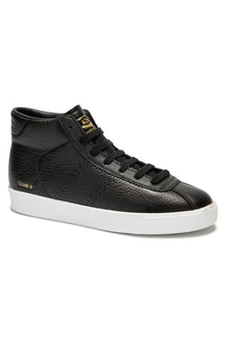 2871 Club S Comfleau Black Leather High Ankle Sneaker
