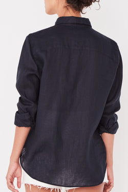 Xander True Navy Linen Shirt