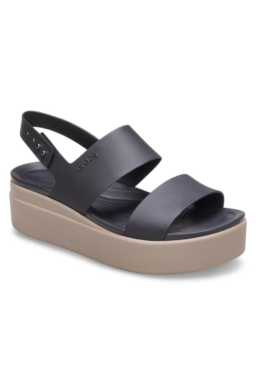 Brooklyn Black/Mushroom Low Wedge