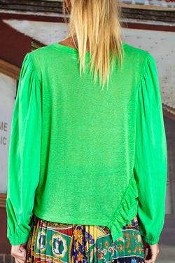 Top Shot Lime Green Ruffle Jumper