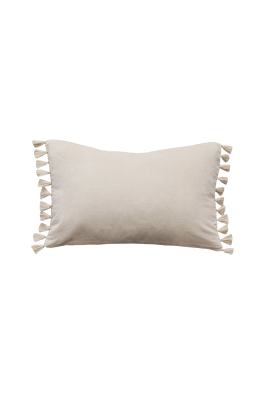 Este Tassel Edge Rectangle Nude Cushion 35x53cm