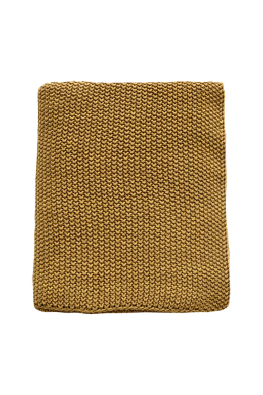 Milford Moss Stitch Harvest Gold Cotton Throw