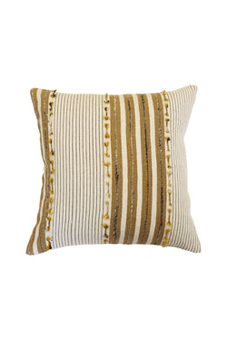 Luka Natural + Ochre Stripe Cushion 50x50cm