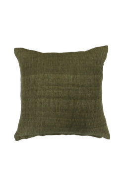 Indira Military Linen Cushion 55x55cm